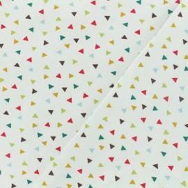 Tissu Oeko-Tex jersey Poppy  Triangle multi - blanc x 10cm