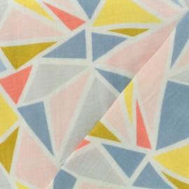 Oeko-Tex gauze designed by Poppy - Triangolo - pink x 10cm