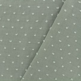 Plumetis Cotton Fabric - olive x 10cm
