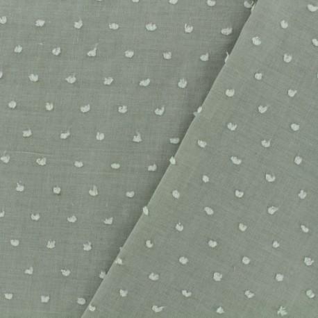 Plumetis Cotton Fabric - olive x 10cm