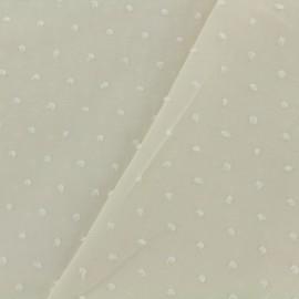 Tissu Plumetis voile de coton - écru x 10cm