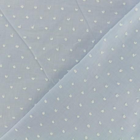 Tissu Plumetis voile de coton - ciel x 10cm
