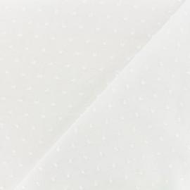 Plumetis Cotton Fabric - white x 10cm