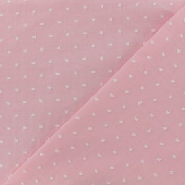 Plumetis Cotton Fabric - pink x 10cm