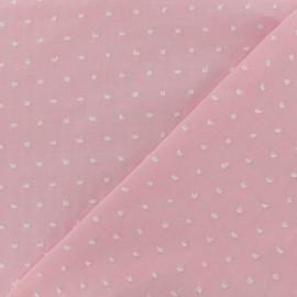 Tissu Plumetis voile de coton - rose x 10cm
