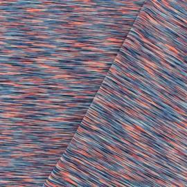 Polyester lycra Sport fabric - multi coral x 10cm