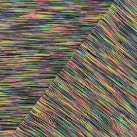 Tissu polyester lycra Sport - multi fluo x 10cm
