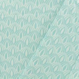 Cotton poplin fabric Poppy - Kali aqua x 10cm