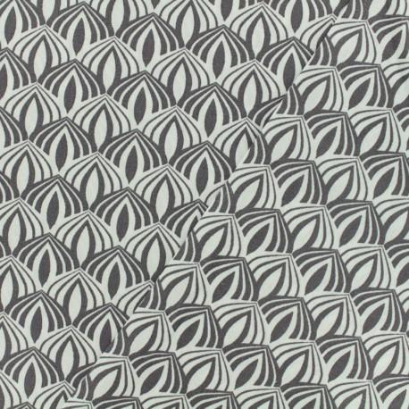 Tissu Oeko-Tex coton popeline Poppy - Kali - brun x 10cm