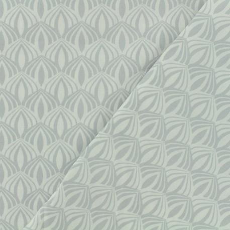 Cotton poplin fabric Poppy - Kali pearl x 10cm