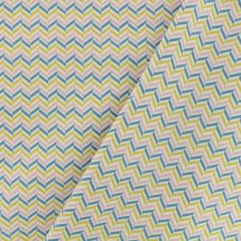 Tissu Oeko-Tex coton popeline Poppy - Graphique chic - blanc x 10cm