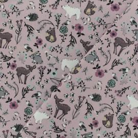 Tissu Oeko-Tex coton popeline Poppy - Dans les bois - bois de rose x 10cm