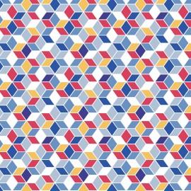 Tissu coton Oeko-tex Nano - indigo x 10cm