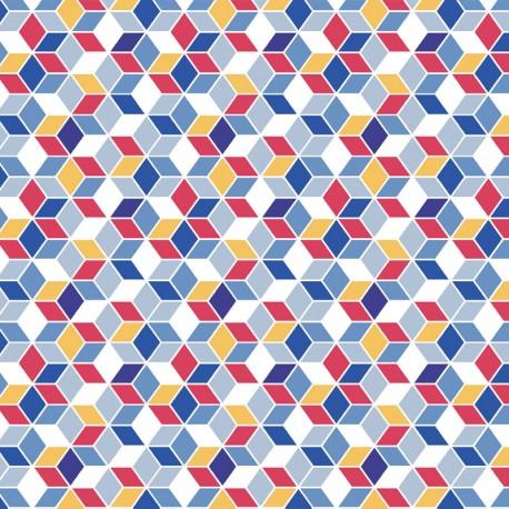 Cotton fabric Nano - indigo x 10cm