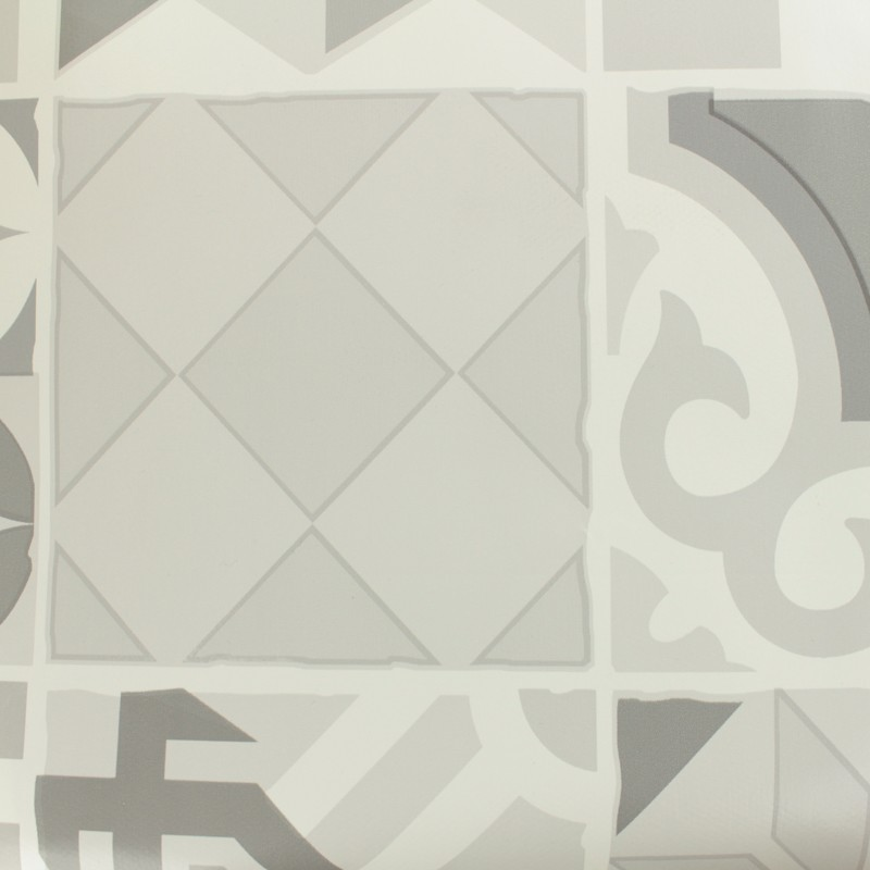 tissu toile cir e toile cir e oeko tex carreau de ciment gris mpm. Black Bedroom Furniture Sets. Home Design Ideas