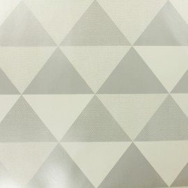 ♥ Only one piece 200cm X 140cm ♥ Oilcloth Oeko Tex fabric Graphic - silver and white