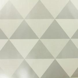 Tissu toile cirée  Oeko-Tex Graphic - argent et blanc x 10cm