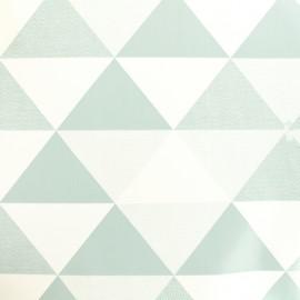 Tissu toile cirée  Oeko-Tex Graphic - bleu et blanc x 10cm