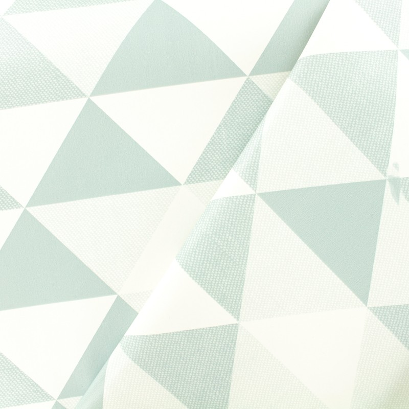 tissu toile cir e toile cir e oeko tex graphic bleu blanc mpm. Black Bedroom Furniture Sets. Home Design Ideas