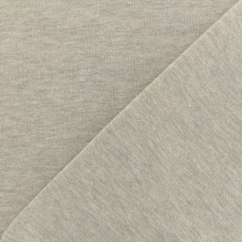 Jogging fabric Molletonné Pailleté - light grey x 10cm