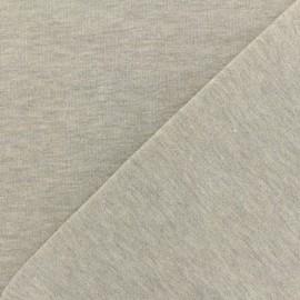 Tissu sweat léger Molletonné Pailleté - gris clair x 10cm