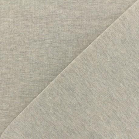 Jogging fabric Molletonné Pailleté - light grey x 10cm