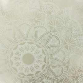 15 gauge clear vinyl fabric Mandala - white x 50cm