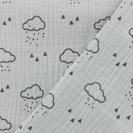 Double gauze fabric MPM Oeko-tex Cloud - argile x 10cm