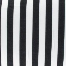 Tissu rayures noir x 10cm