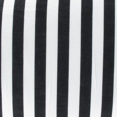 Fabric rayures noir x 10cm