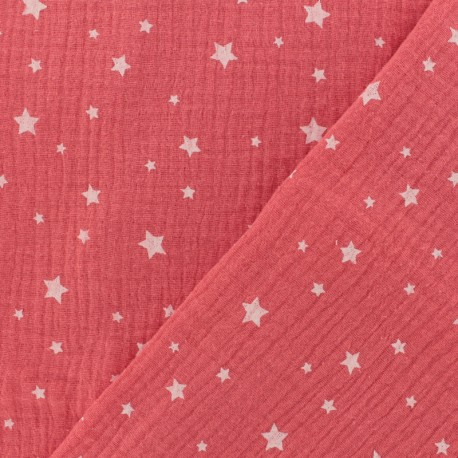 Double gauze fabric MPM Oeko-tex Star - grenadine x 10cm
