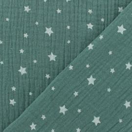 Double gauze fabric MPM Oeko-tex Star - eucalyptus x 10cm