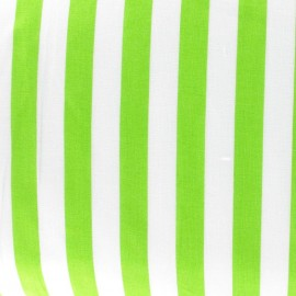 Stripes fabric - lime green x 10cm