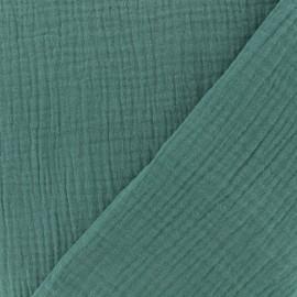 Tissu double gaze de coton - eucalyptus x 10cm
