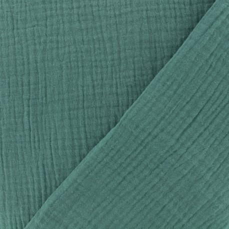 Double gauze fabric MPM Oeko-tex - eucalyptus x 10cm