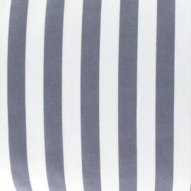 Stripes fabric - dark grey x 10cm