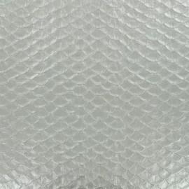 Simili cuir Dragon - argent x 10cm