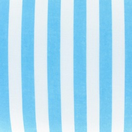 Stripes fabric - turquoise x 10cm