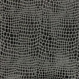 Simili cuir Aligator - anthracite x 10cm
