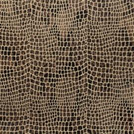 Simili cuir Aligator - sepia x 10cm
