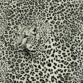 Imitation leather Leopard- grey x 10cm