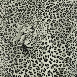 Simili cuir Leopard - gris x 10cm