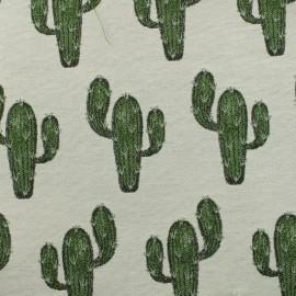 Tissu Jacquard desert - vert x 10cm