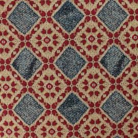 Rombo Jacquard fabric - denim x 10cm