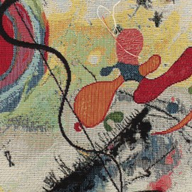 Tissu OEKO-tex Jacquard Kandy - multi x 10cm