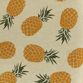 Tissu Toile de coton Queen ananas - lin x 20cm
