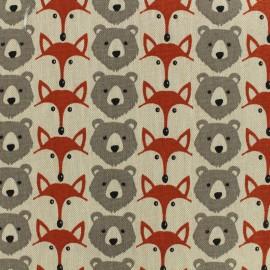 Tissu Toile de coton Ruse - lin x 10cm