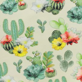 Oeko-Tex Jersey cotton fabric Stenzo cactus - cream x 20cm