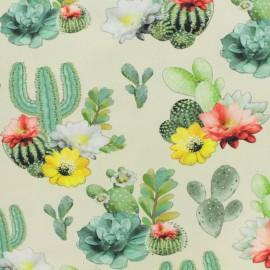 Tissu coton jersey Stenzo cactus - creme x 20cm