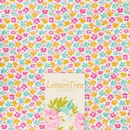 Tissu coton Tilda LemonTree collection - Flowerfield yellow x 10cm